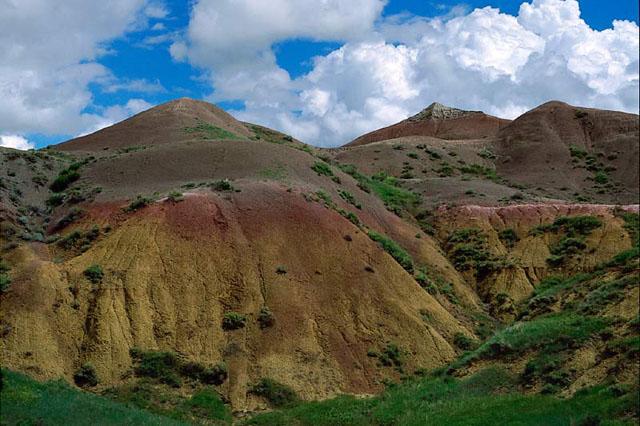 Badlands National Park Red Mountains