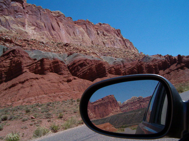 continuing down the scenic road
